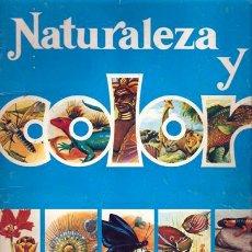 Coleccionismo Álbumes: NATURALEZA Y COLOR ALBUM REGALO 30 CROMOS. Lote 21974873