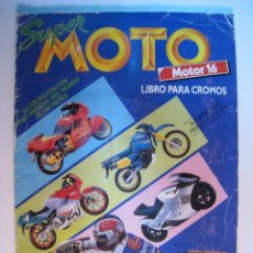 Coleccionismo Álbumes: ALBUM CROMOS SUPER MOTO - ESTE/MOTOR16 1990 (CON 178). Lote 11943359