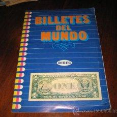 Coleccionismo Álbumes: BILLETES DEL MUNDO FALTAN 44 DE 225. Lote 85505940