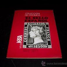 Coleccionismo Álbumes: ALBUM COLECCION DE CROMOS EL SELLO ESPAÑOL 1067-1971 KEISA EDICIONES FALTAN 24 DE 322. Lote 27461699