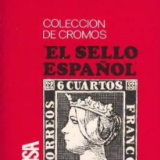 Coleccionismo Álbumes: COLECCION DE CROMOS EL SELLO ESPAÑOL 1067/1971 KELISA EDICIONES 322 SELLOS FALTAN 41 . Lote 27461719