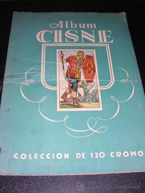 ALBUM VACIO - ALBUM CISNE COLECCION DE 120 CROMOS - RARO (Coleccionismo - Cromos y Álbumes - Álbumes Incompletos)