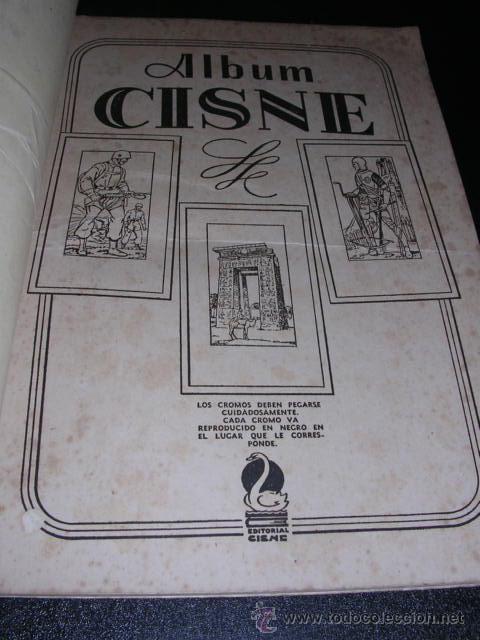 Coleccionismo Álbumes: ALBUM VACIO - ALBUM CISNE COLECCION DE 120 CROMOS - RARO - Foto 2 - 14565962