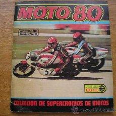Coleccionismo Álbumes: MOTO 80, ALBUM DE CROMOS, EDICIONES ESTE, MOTO80. Lote 27482004