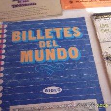 Coleccionismo Álbumes: ALBUN BILLETES DEL MUNDO A FALTA DE SU CUMPLIMENTACIÓN (ESTÁ PRACTICAMENTE COMPLETO). Lote 20145025