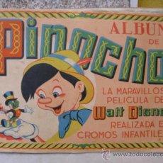 Coleccionismo Álbumes: ALBUM DE PINOCHO EDI FHER BILBAO -1944 FALTAN 7 CROMOS DE 240 TOTALES - PERFECTO + INFO. Lote 15250795