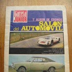 Coleccionismo Álbumes: ALBUM DE CROMOS - SALON DEL AUTOMOVIL - GACETA JUNIOR - 1968. Lote 27433879