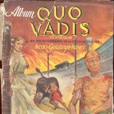 Coleccionismo Álbumes: ALBUM DE CROMOS QUO VADIS ROBERT TAYLOR DEBORACH KERR LEO GENN PETER USTINOV. Lote 15695708