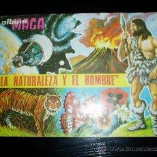 Coleccionismo Álbumes: ALBUM LA NATURALEZA Y EL HOMBRE. MAGA. INCOMPLETO.. Lote 16053837