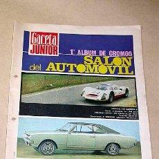 Coleccionismo Álbumes: PRIMER ÁLBUM DE CROMOS SALÓN DEL AUTOMOVIL. GACETA JUNIOR, UNISA 1968. VACÍO PERO CON EXTRAS.. Lote 27233370