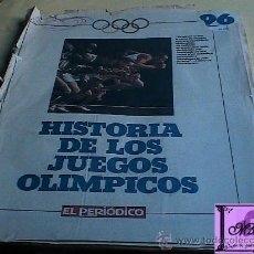 Coleccionismo Álbumes: ÁLBUM DE CROMOS DE LOS AÑOS 90 HISTORIA DE LOS JUEGOS OLÍMPICOS DE EL PERIÓDICO DE CATALUNYA. Lote 27640012