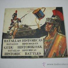 Coleccionismo Álbumes: ALBUM INCOMPLETO BATALLAS HISTÓRICAS . TIENE 222 CROMOS DE 306 . 1974 . DIFUSORA DE CULTURA . 27X23. Lote 27380939