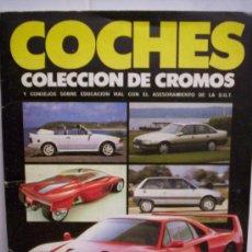 Coleccionismo Álbumes: ALBUM COCHES AÑO 1988 INCOMPLETO. Lote 27333873