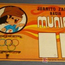 Coleccionismo Álbumes: JUANITO ZAHOR HACIA MUNICH. ALBUM VACIO CHOCOLATES ZAHOR 1971. Lote 88358946