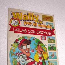 Coleccionismo Álbumes: WALLY POR EL MUNDO, ATLAS CON CROMOS. EDICIONES ORBIS 1997. INCOMPLETO. VER MÁS INFO.. Lote 26339449
