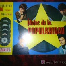 Coleccionismo Álbumes: M69 ALBUM IDOLOS DE LA POPULARIDAD 1967 PIPAS TOSTADERO VALENCIA. Lote 186054863