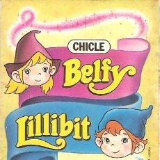 Colecionismo Cadernetas: ALBUM VACIO CHICLE BELFY LILLIBIT. Lote 19564827