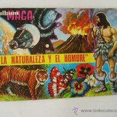 Coleccionismo Álbumes: ALBUM CROMOS MAGA LA NATURALEZA Y EL HOMBRE AÑO 1967 TIENE 71 CROMOS. Lote 19691321