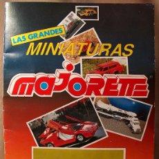 Coleccionismo Álbumes: ALBUM, MINIATURAS MAJORETTE, INCOMPLETO, COCHES, VEHICULOS. Lote 20348437