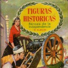 Coleccionismo Álbumes: INTERESANTE ALBUM DE CROMOS - FIGURAS HISTÓRICAS, HÉROES DE LA INDEPENDENCIA II DE CHOCOLATES OLLÉ. Lote 20502437