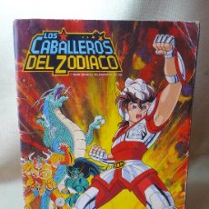 Coleccionismo Álbumes: ALBUM, CROMOS, LOS CABALLEROS DEL ZODIACO, PANINI, INCOMPLETO,1986. Lote 21177209