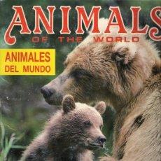 Coleccionismo Álbumes: ALBUM DE CROMOS - ANIMALES DEL MUNDO (INCOMPLETO). Lote 21454902