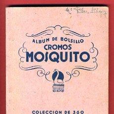 Coleccionismo Álbumes: ALBUM CINE , CROMOS MOSQUITO, CINE , CISNE CON 167 CROMOS, ARTISTAS DE LA PANTALLA, ORIGINAL. Lote 23982649