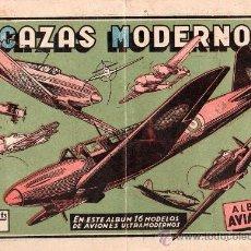 Coleccionismo Álbumes: ALBUM INCOMPLETO. ALBUM AVIACION. CAZAS MODERNOS. TIENE 8 CROMOS DE 18.. Lote 24054047