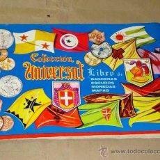 Coleccionismo Álbumes: COLECCIÓN UNIVERSAL. LIBRO DE BANDERAS, ESCUDOS, MONEDAS Y MAPAS. DISTRIBUIDORA ALES 1962. VACIO. ++. Lote 27233377