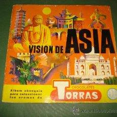 Coleccionismo Álbumes: ALBUM VISION DE ASIA DE CHOCOLATES TORRAS . AÑO 1961.. Lote 26797333