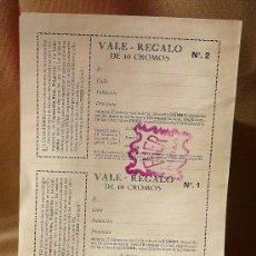 Coleccionismo Álbumes: VALE REGALO, FHER, ALBUM DE CROMOS, DUMBO, PINOCHO, BLANCA NIEVES, CON CUÑO FHER. Lote 22371111