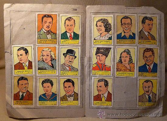 Coleccionismo Álbumes: MEGA RARO ALBUM ESTRELLAS DE CINE, EDITORIAL VALENCIANA, CROMOS DEPORTES, INCOMPLETO FALTA 19 Y 35 - Foto 2 - 22469532