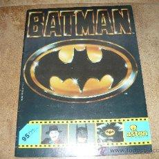 Coleccionismo Álbumes: ALBUM DE CROMOS BATMAN ASTON 1989 ALBUM. Lote 26468606