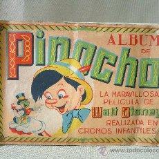 Coleccionismo Álbumes: ALBUM CASI COMPLETO, A FALTA DEL CROMO 105, PINOCHO, FHER, WALT DISNEY. Lote 25429224