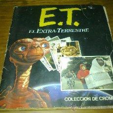 Coleccionismo Álbumes: ALBUM DE CROMOS DE ET - ESTE. FALTAN 4 CROMOS. Lote 25755020