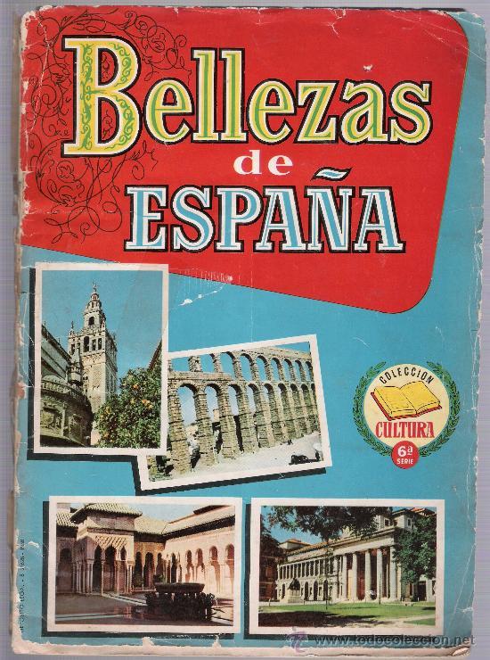BELLEZAS DE ESPAÑA. ALBUM CON 110 CROMOS. (Coleccionismo - Cromos y Álbumes - Álbumes Incompletos)