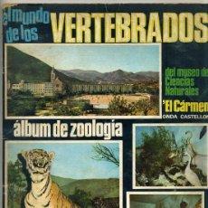 Coleccionismo Álbumes: EL MUNDO DE LOS VERTEBRADOS DEL MUSEO DE EL CARMEN DE ONDA CASTELLÓN (1970). Lote 26112660