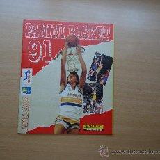 Coleccionismo Álbumes: ALBUM DE CROMOS - PANINI BASKET 91 PLANCHA - LIGA ACB . Lote 26704183