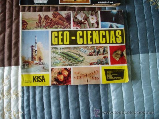 ALBUM CROMOS GEO- CIENCIAS LE FALTAN 76 CROMOS (Coleccionismo - Cromos y Álbumes - Álbumes Incompletos)