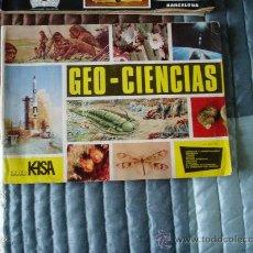 Coleccionismo Álbumes: ALBUM CROMOS GEO- CIENCIAS LE FALTAN 76 CROMOS. Lote 25821610