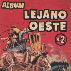 Coleccionismo Álbumes: ALBUM LEJANO OESTE 2º. EDIGESA 1957. TIENE 145 CROMOS DE 287.. Lote 26941371