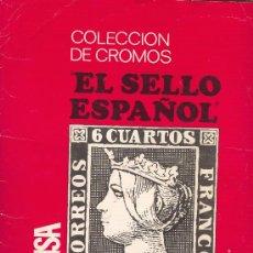 Coleccionismo Álbumes: ALBUM COLECCION DE CROMOS EL SELLO ESPAÑOL 1067-1971 KEISA EDICIONES FALTAN 5 DE 322. Lote 27532336