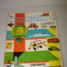 Coleccionismo Álbumes: ALBUM DE CROMOS ENCICLOPEDICO Nº 1 .. Lote 27656806