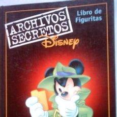 Coleccionismo Álbumes: LIBRO DE FIGURITAS ARCHIVOS SECRETOS DISNEY - DISNEY EXPLOTA - 1999 (NUEVO). Lote 27684132
