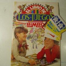 Coleccionismo Álbumes: ALBUM BIMBO EL LIBRO DE LOS JUEGOS CON 32 CROMOS Y 8 FICHAS DIFICILES DE ENCONTRAR. Lote 27297179