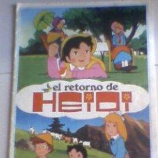 Coleccionismo Álbumes: ALBUM CROMOS EL RETORNO DE HEIDI FHER 1976. Lote 27915625