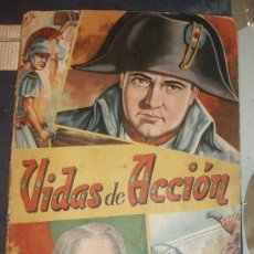 Coleccionismo Álbumes: ALBUM VIDAS DE ACCION SOLO FALTAN 15 CROMOS REGALO SOBRE NUEVO FHER. Lote 28206386
