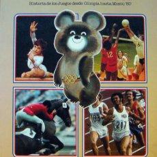 Coleccionismo Álbumes: ALBUM, LIBRO LOS JUEGOS OLIMPICOS DE MOSCU 80- NO TIENE CROMOS- 80 PAGINAS 24X20,5 CM AÑO 1980 - . Lote 28502886