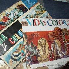 Coleccionismo Álbumes: VIDA Y COLOR 1 COMPLETO Y VIDA Y COLOR 2 , FALTAN 9 ,LOTE 2 ALBUNES. Lote 28737697