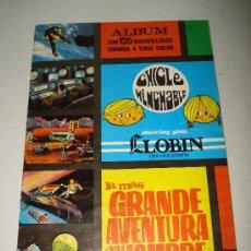 Coleccionismo Álbumes: ANTIGUO ALBUM LA MAS GRANDE AVENTURA DEL HOMBRE DEL CHICLE HINCHABLE LLOBIN - AÑO 1968. Lote 28857275